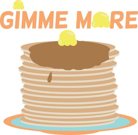 mornings: Mornings will be great with a stack of pancakes.