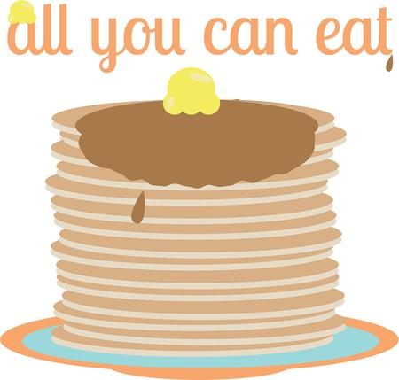 flapping: Mornings will be great with a stack of pancakes.