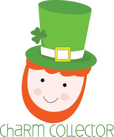 st paddy s day: A leprechaun can bring you luck. Illustration