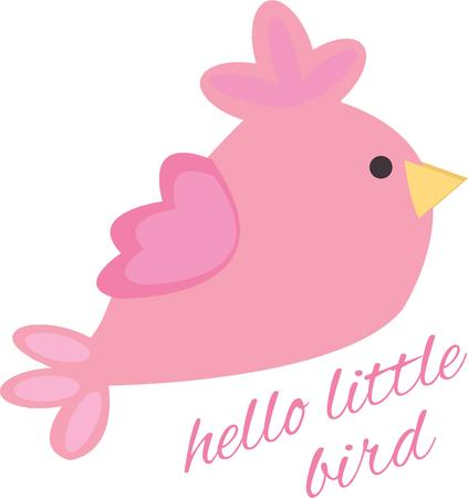told: Add a little bird to a project for some whimsy. Illustration