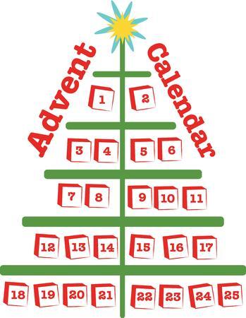 advent calendar: This design will make a wonderful Christmas decoration.