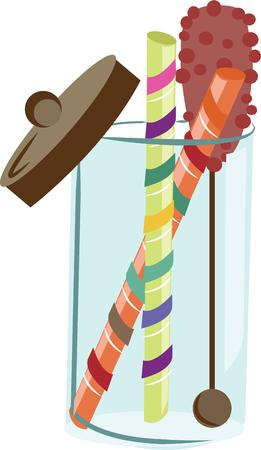 sweet tooth: Make a colorful jar of candy for someone with a sweet tooth. Illustration