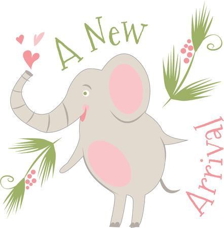 pachyderm: Celebrate a new baby with this cute elephant.