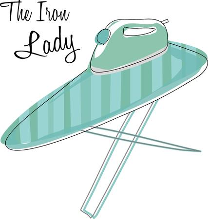 ironing board: Remember your chores with this ironing board.