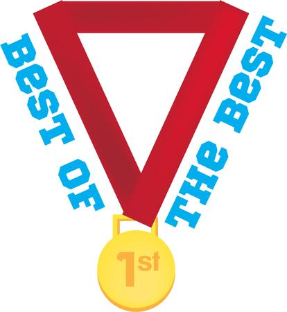 sporting event: A gold medal is the perfect award for any sporting event. Illustration