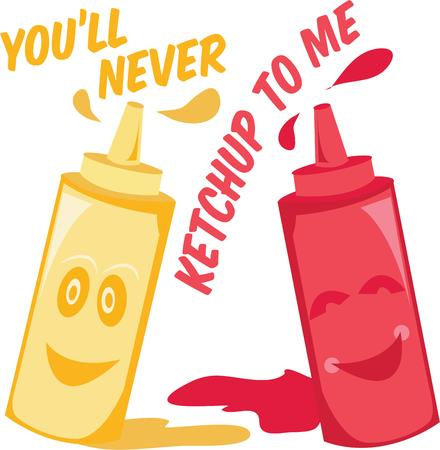 condiments: Have some fun condiments in your kitchen. Illustration