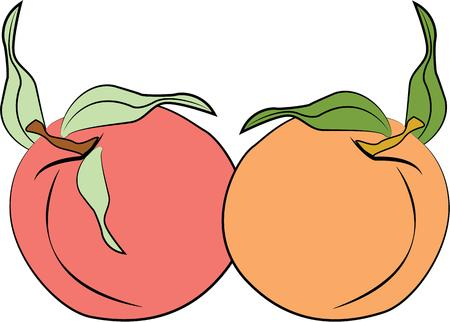 peaches: Delicious peaches will make a great accent to your kitchen.