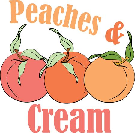 cling: Delicious peaches will make a great accent to your kitchen.