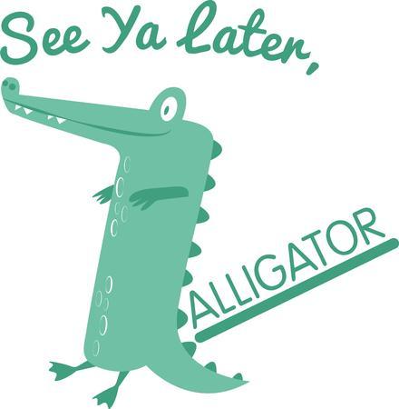 crock: a cute alligator is great for a nursery decoration.