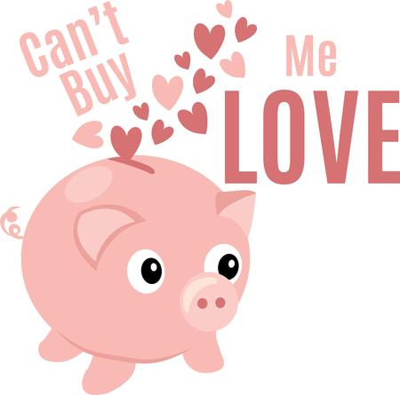 oink: Make a fun Valentine project with piggy banks.