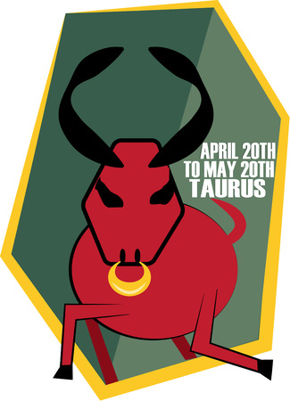 prophecy: The second sign of the zodiac in astrology is Taurus, the bull.  Create something amazing for your favorite Taurus with this fun and artsy zodiac design. Illustration