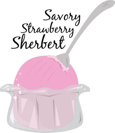 sorbet: Everyone loves a delicious bowl of ice cream.