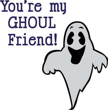 specter: It makes for a happy halloween with a laughing ghost. Illustration