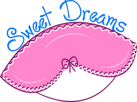 frilly: Every diva needs a frilly eye mask to get the most of their beauty sleep.  We love this design on an actual eye mask - what a fun effect! Illustration
