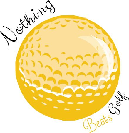 seem: Gold enthusiasts seem to eat, drink and sleep golf.  This graphic is just for that golfer.  We love it on a golf towel! Illustration