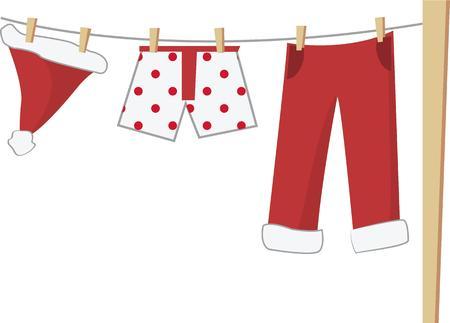 楽しんで: クリスマスにサンタさんの洗濯と楽しい時を過します。