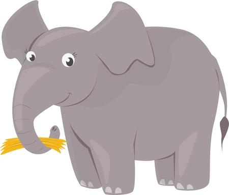 pachyderm: An elephant can be a childs friend. Illustration