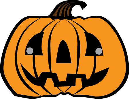 jack o' lantern: A kooky jack o lantern for halloween decor.