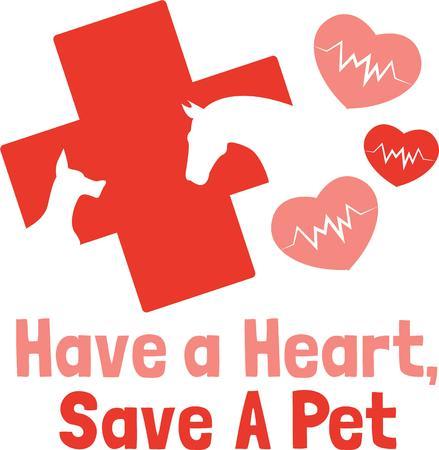 croix rouge: Une croix rouge animal est un grand logo pour un v�t�rinaire.