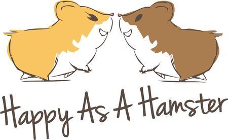 해학적 인: Hamsters in love spread a unique charm.  What a humorous Valentine decoration!