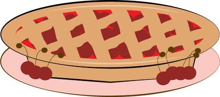 tarte aux cerises: Toute la cuisine vont adorer un d�licieux tarte aux cerises. Illustration