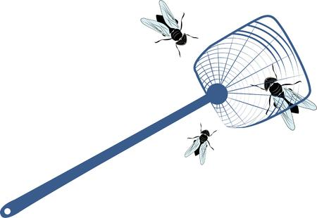 house fly: Use this fly swatter for your house project. Illustration
