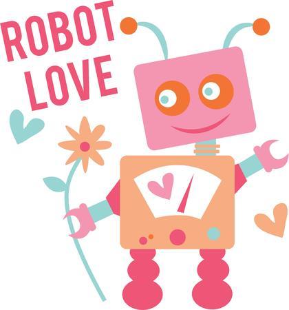 science fiction: Science fiction zal geeks van deze robot. Stock Illustratie