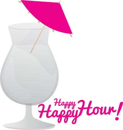 colada: Pina Coladas are a fun addition to a party project. Illustration