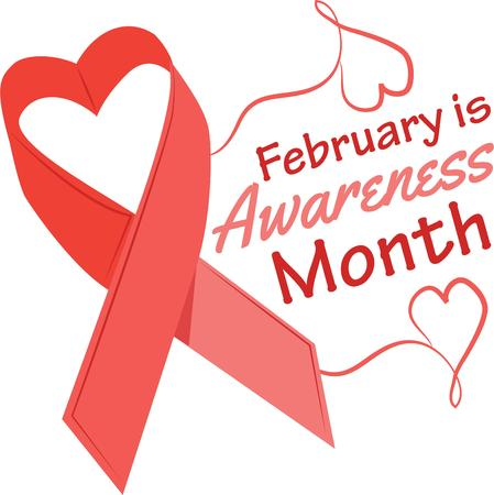 heart disease: Support a cure for heart disease by wearing this ribbon.