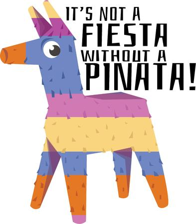 pinata: Use this pinata for a Mexican celebration.
