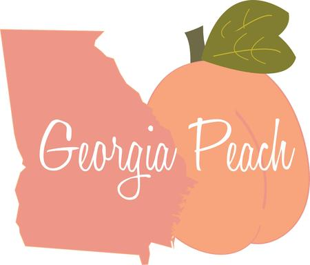 peaches: Peaches are a wonderful fruit and will look great on an apron.