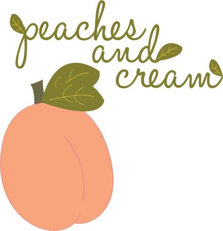 cling: Peaches are a wonderful fruit and will look great on an apron.