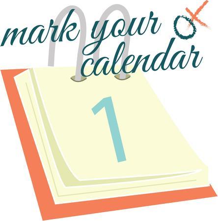 chronologie: Marquez une occasion sp�ciale avec une date du calendrier.