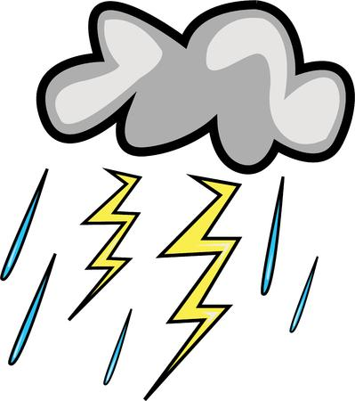 storm cloud: This storm cloud will make a great rain day design. Illustration