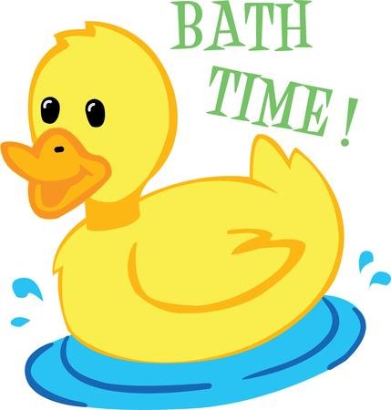 ducky: Make bath time fun with a ducky on a towel.