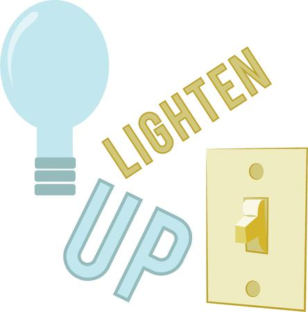 show off: Show off your bright ideas with a light bulb.