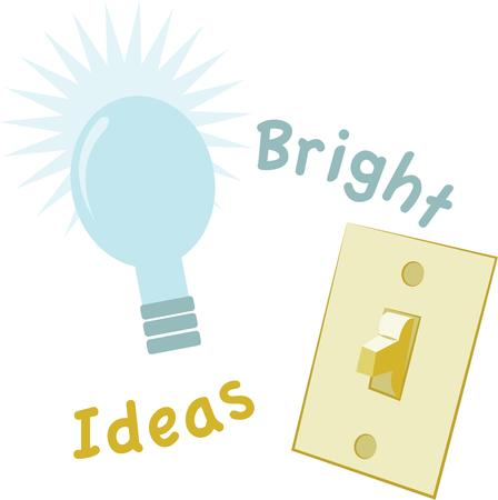 lite: Show off your bright ideas with a light bulb.