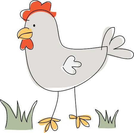 country kitchen: Chickens are a classic dcor for a country kitchen.