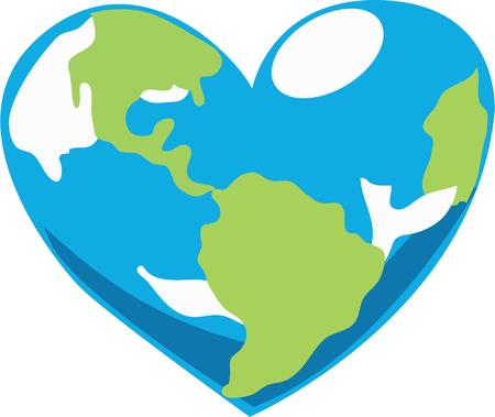 terra: Let everyone know you love the earth with this globe.