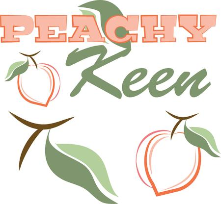splendid: Create a splendid look for summer with tasty peaches on place mats and linens
