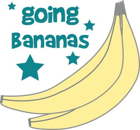weegbree: Versier je huis met de warme gloed van bananen en voeg een tropische smaak aan uw projecten met dit gewaagde en mooi design Stock Illustratie