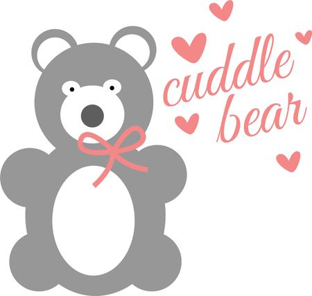 lovable: Squeeze love into your day with this huggable Valentine bear.  Use this lovable design on your holiday projects