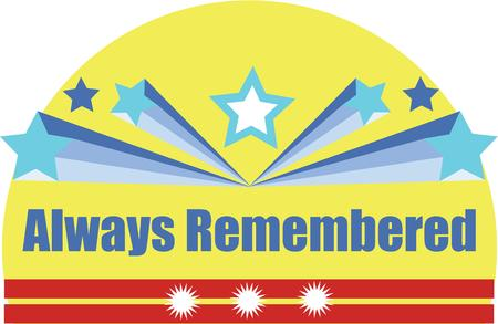 remembered: some people remember it every thing. Illustration