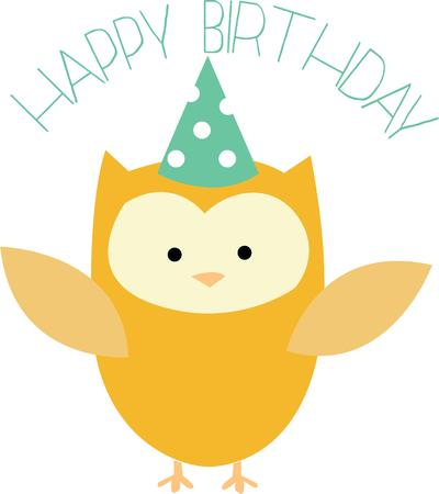 hoot: A real party owl for a happy birthday.