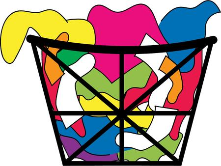 hamper: Turn this simple design into a style statement.  It is great for framing or sewing on basket liners.