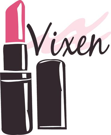 pinky: Add a touch of glamor to your projects with this design on makeup bags totes tshirts and more