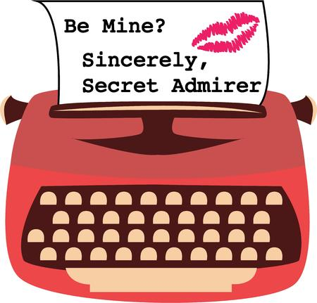 type writer: A vintage typewriter is a fun way to send a special message. Illustration