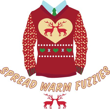 party wear: Wear an ugly sweater to a Christmas party.