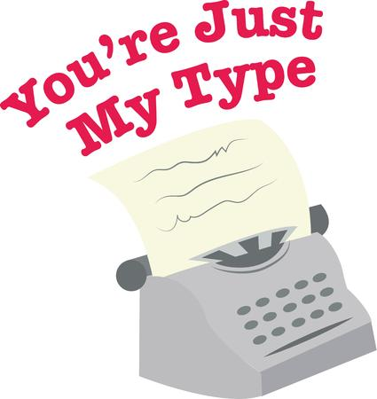 type writer: Send a special message with a vintage typewriter.