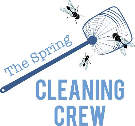 cleaning crew: Use this fly swatter for your house project. Illustration